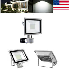 100W Led Cool White Pir Motion Sensor Outdoor Security Floodlight Lamp Ip65 110V