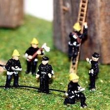6 Fire-fighters People A106 UNPAINTED N Gauge Scale Langley Models Kit Figures