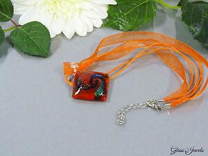 Glass Jewels Extravagant Kette Halskette mit Anhänger Farbwahl #A058