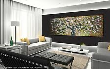 150cm x 50cm aboriginal art painting tree flower canvas print by jane crawford