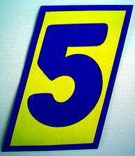 """One Number 5 Sticker, 7""""x 7¼"""" For Indoor Or Outdoor Use * 1 Autocollant No. 5"""