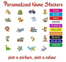 School Book Tags, Kids Custom Name Labels, Stickers, Childcare, Toy, Waterproof