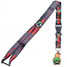 Looney Tunes Marvin The Martian Lanyard with ID Holder & Charm New