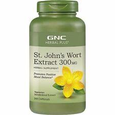 GNC St. John's Wort Extract 300 MG 200 Capsules Exp. 2022