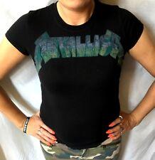 Metallica Vtg Logo Officiel Femmes / T-Shirt pour Femme(S) Og 2009 Neuf