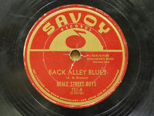 Beale Street Boys 78 Back Alley Blues bw Double Crossing Blues  Savoy G