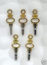Lot 5. Clés de Montre Gousset de tailles 0 2 4 8 12  Pocket Watch keys ***