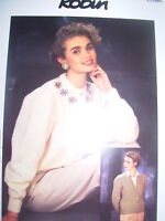 ROBIN CHUNKY KNITTING PATTERN LADIES CARDIGANS x 2
