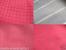 Lot de 4 coupons 105cm x 50cm 3 rouges épais différents + 1 voile tissus de luxe