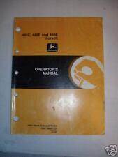 John Deere 485E, 486E, 488E Forklift Operator's Manual