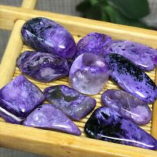 11Pcs Rare Natural charoite beads Polish Stones Crystal Healing 27g A8196