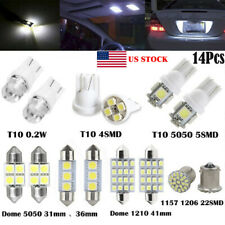 14Pcs Led Interior Package Kit For T10 36mm Map Dome License Plate Lights Set (Fits: Peugeot)