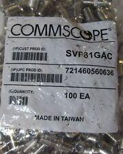 Lot 100 F81 COMMSCOPE THREADED RG6 COAX CABLE CONNECTOR BARREL SPLICE SVF81GAC