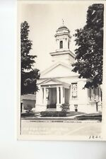 Rood Real Photo Postcard Methodist  Church  Poultney  VT