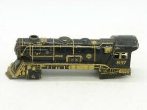 Marx 897 Litho Litho Engine Shell No Motor to Complete has Slot for Clockwork