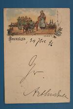 Belgien AK Bruxelles Brüssel 1896 Laitiere Flamande Chien Dog Cart Milch .. BE14