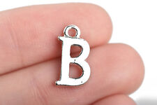 8 Letter B Charms Silver Plated monogram 15mm, chs2577