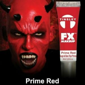 Tinsley Transfers FX Halloween  Water Based Cream Face Makeup Body Paint, Red
