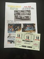 DECALS 1/24 RENAULT 5 TURBO SABY RALLYE TOUR DE CORSE 1980 WRC RALLY GITANES