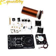 20W Mini Music Tesla Coil Plasma Speaker Transmission DIY Kits DC 15-24V