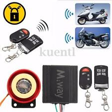 Motorcycle Scooter Anti-theft Burglar Alarm Security System +2 Remote Control
