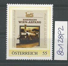 """Österreich PM personalisierte Marke Eisenbahn """"125 Jahre WIEN-ASPANG 2 """" **"""
