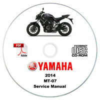 Yamaha MT-07 2014 K4 Service Manual CD