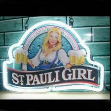 "New St Pauli Girl Neon Light Sign 14""x10"" Beer Cave Gift Real Glass Artwork"