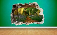 Forest Path Wall Sticker Smashed Wall Full Colour art decal bedroom woods nature