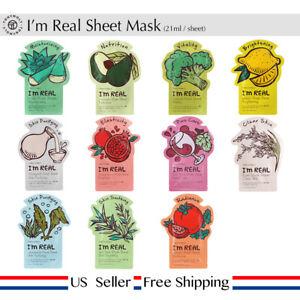 Tony moly I'm Real Sheet Mask 21ml / sheet +Free Sample [ US Seller ]