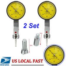 "2pcs 1"" Dial Test Indicator Travel Lug Lever Gauge Scale Meter 0.001"" Graduation"