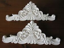 TWO  BEAUTIFUL DECORATIVE  FRENCH COUNTRY STYLE FURNITURE/ FIREPLACE MOULDINGS