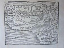 1568 AFRICA Sebastian Münster Cosmographia universalis Munster