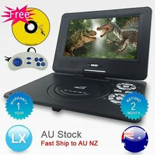 "Hitekmall New AU 9.5"" mini Portable DVD Player 270°,Swivel, USB,SD,300 GAMES AU"