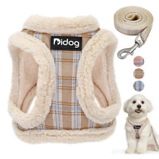 Warm Fleece Dog Harness and Leash Cute Cat Walk Vest Jacket for Small Puppy Dogs