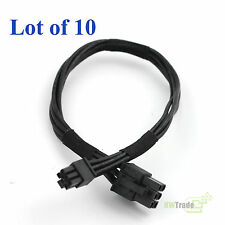 Lot of 10 Mini PCI-E 6Pin To PCI-E 6Pin Power Cable MAC PRO QUAD Core G5 8800GT