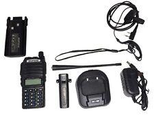 Baofeng UV-82 DOPPIO PTT Dual Band V/U FM 8W Radio DTMF PMR RICETRASMITTENTE