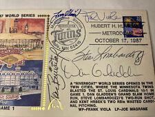 Multi-signed 1987 Gateway Game 1 Cachet Autographed Oliva, Lombardozzi, Viola 5