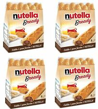 4x Ferrero Nutella B-Ready Nutella Filled Wafer Bar Snack 8 Pack Italy+free gift
