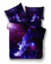 3D Galaxy Bedding Duvet Cover Set Or Flat Sheet Single Double Size