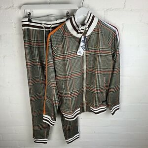Lonsdale Gent Suit Beige Check SMALL RRP£75
