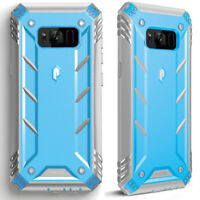 For Galaxy S8 Plus Case [360° Protective] Premium Shockproof Cover Blue