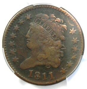 1811 Classic Head Half Cent 1/2C - Certified PCGS VF Details - Rare Date!