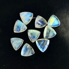 3MM/4MM/5MM/6MM WHITE RAINBOW MOONSTONE TRILLION CUT FACETED LOOSE GEMSTONE 5 P.