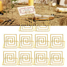 Place Card Holder Metal Card Holder Stand Wedding Dinner,Food Sign ( Gold) X