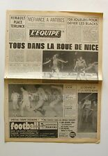 Journal l'Equipe n°9770 - 1977 - Football Nice - Rugby Les Blacks - Basket Antib