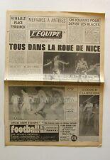 Journal l'Equipe n°9770 - 1977 - Football Nice - Rugby Les Blacks - Basket Antib