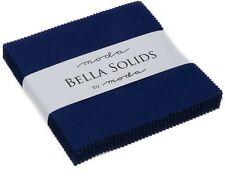 """Royal Blue Moda Bella Solids Charm Pack 42 5"""" Precut Cotton Quilt Squares"""