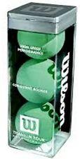 Wilson Titanium Tour Racquetballs Green 3 Pack Nib Sealed