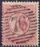 "GB 1857 QV 4 D rose-carmine superb used, ""76"" LONDON-cancellation (S.G. 66)"